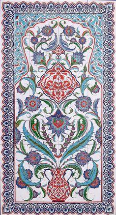 80x140seramik pano Turkish Art, Turkish Tiles, Islamic Art Pattern, Pattern Art, Tile Murals, Tile Art, Turkish Pattern, Islamic Art Calligraphy, Calligraphy Alphabet