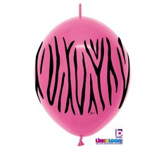 "Zebra - Deluxe Fuchsia 12"" LINK-O-LOON®"
