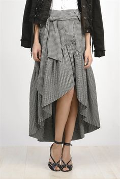 Pinko Gingham cloqué <b>skirt</b>