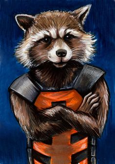 Rocket Raccoon : Guardians of the Galaxy  by AshleighPopplewell on DeviantArt °°