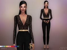 Sims 4 CC's - The Best: Sara Jumpsuit by BEO