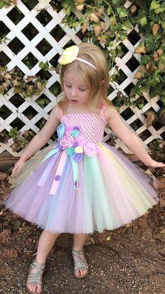 Unicorn Tutu Dress Pink Birthday Dress P - Diy Crafts Pink Tutu Dress, Pink Flower Girl Dresses, Dresses Kids Girl, Baby Dress, The Dress, Girl Tutu, Baby Tutu, Flower Girls, Pink Birthday