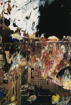 Gerhard Richter - Abstract Art - Lacquer on colour photograph. Abstract Photography, Artistic Photography, Gerhard Richter Painting, Pop Art, Artsy Photos, Fire Art, Glitch Art, Oeuvre D'art, Les Oeuvres