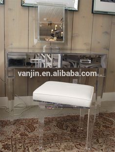 Mirrored Plexiglass Acrylic Vanity