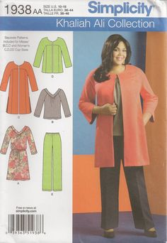 Simplicity 1938 Sewing Pattern Khaliah Ali by OhSewWorthIt on Etsy, $4.95