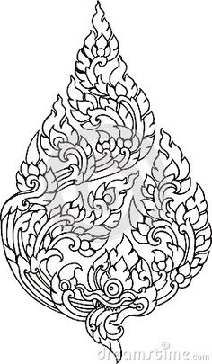 Leaf Pattern artistic of Thai. Pretty embroidery pattern?