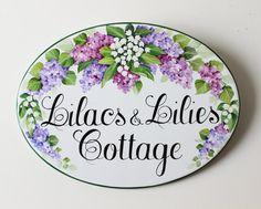 Placa personalizada de mano personalizado villas pintado de