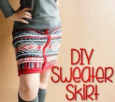 DIY Sweater Skirt