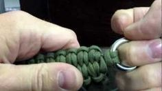 How to make a paracord quick deploy bracelet with the blaze bar, via YouTube.