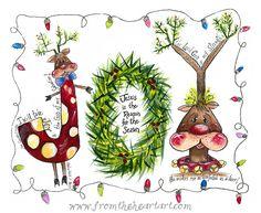 Christmas Joy Reindeer Print