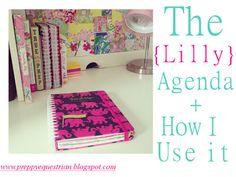 The Preppy Equestrian: The Lilly Pulitzer Agenda + How I Use it www.thepreppyequestrian.blogspot