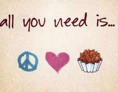 Peace, Love & Brigadeiro! =) e como preciso!