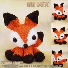 Baby Fox crochet amigurumi PDF pattern, If anyone has a good FREE fox pattern. I need it before the Say Anything show!