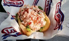 Jordan Lobster Farms, Island Park: At Jordan Lobster Farms, you order your lobster roll at the counter and find a table indoors or within view of the Long Beach Bridge. The coral-hued salad is made with lobster meat, mayonnaise, lemon juice, celery and scallions, and comes on a toasted hot dog bun.