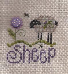 Sheep Sheep Cross Stitch, Cross Stitch Sampler Patterns, Blackwork Patterns, Blackwork Embroidery, Cross Stitch Pillow, Cross Stitch Pictures, Simple Cross Stitch, Cross Stitch Samplers, Cross Stitch Animals