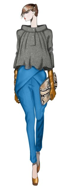 JAA DESIGN ORIGINAL FASHION ILLUSTRATION. Fashion Illustration Sketches, Illustration Mode, Fashion Sketchbook, Fashion Design Sketches, Moda Fashion, Fashion Art, Fashion Models, Fashion Show, Womens Fashion