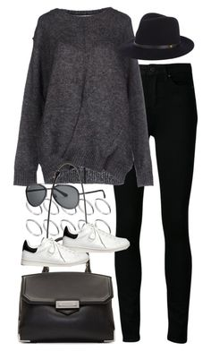 """Inspired outfit with sneakers"" by pagesbyhayley ❤ liked on Polyvore featuring Paige Denim, Étoile Isabel Marant, ASOS, rag & bone, Alexander Wang and Tod's"