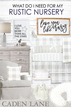 This is perfect for a baby boy or girl! Love the neutrals and rustic style <3