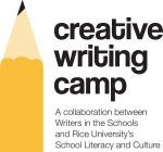 Creative writing camps.  One session for teens, held at Rice University.  field trip, Visiting artist, a culminating performance, and a portfolio with student work. #houston #summeractivities #camps #stuffforkids #education