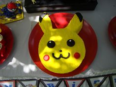 Pikachu cake at a  Pokemon Party #pokemon #partycake
