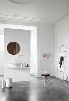 emmas designblogg - design and style from a scandinavian perspective Sink and Mirror; guest bath