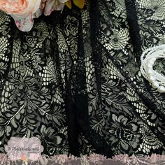 9224df9c4ab Black Lace Fabric Black Lace For Handmade Floral Lace Wedding Black Lace  Bridesmaid Black Lace For Making Clothes Craft