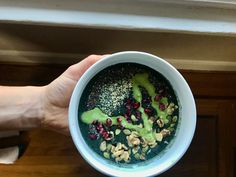 Matcha Bowl, Spirulina, Smoothie Bowl, Fruit Smoothies, Superfoods, Acai Bowl, Spinach, Blueberry, Protein