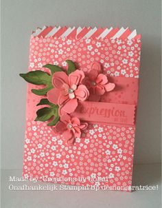 Creations by Jolan Stampin'Up 2016-2017 catalogus sneak peak. Flirty Flamingo Mini Treat Bag Thinlits