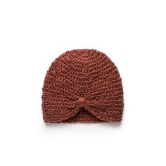 the Sophia - 'the Sophia' is a fitted beanie that features a knotted detail on the front. 'the Sophia' is crocheted in Uganda out of extra soft acrylic yarn and is signed by the lady who made it.