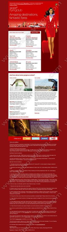 Company: Virgin Atlantic Airways Ltd   Subject: Amazing destinations, fantastic fares!         INBOXVISION, a global email gallery/database of 1.5 million B2C and B2B promotional email/newsletter templates, provides email design ideas and email marketing intelligence. www.inboxvision.c... #EmailMarketing  #DigitalMarketing  #EmailDesign  #EmailTemplate  #InboxVision  #SocialMedia  #EmailNewsletters