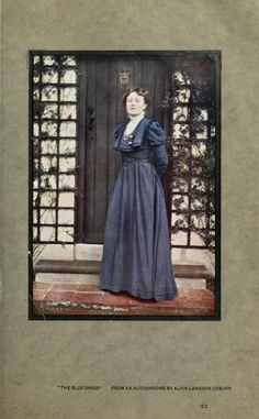 """from """"Colour photography : and other recent developments in the art of the camera"""" (1908) """"The Blue Dress"""" by Alvin Langdon Coburn"""