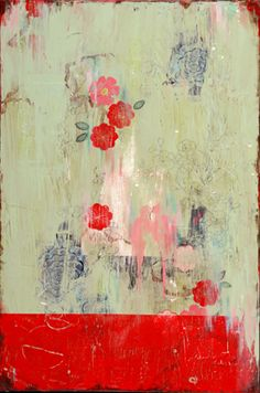 Kathe Fraga 'Hidden Garden,' acrylic on frescoed canvas, finished with lacquer. From her 'French Wallpaper Series.'