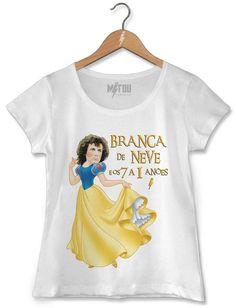 Camiseta Branca De Neve E os 7 a 1 Anões - Mitou Camisetas 95475793977e0