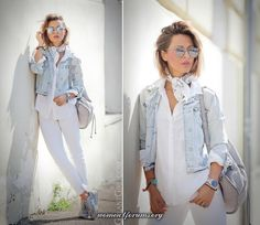 How to wear new balance sneakers and look chic How To Wear Denim Jacket, How To Wear White Jeans, Chic Outfits, Summer Outfits, Fashion Outfits, Fashion Ideas, Jackets Fashion, Look Fashion, Trendy Fashion