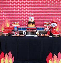 Dessert Table from a Modern Firefighter Birthday Party via Kara's Party Ideas | KarasPartyIdeas.com (5)