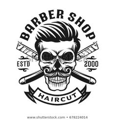 Barber Logo, Barber Tattoo, Vintage Barber, Barbershop Design, Barbershop Ideas, Barber King, Beard Barber, Vintage Groom, Logo Design