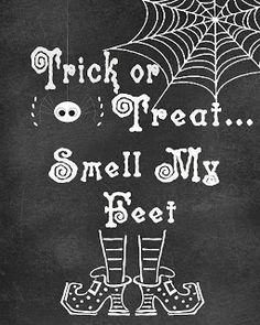 Free Time Frolics: Trick or Treat..Smell my Feet Free Printable