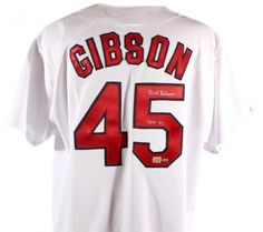Bob Gibson Signed Jersey with HOF 81 Inscription - JSA #SportsMemorabilia #StLouisCardinals #HallOfFame
