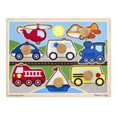 #Christmas Want to buy Melissa & Doug Vehicles Jumbo Knob Puzzle for Christmas Gifts Idea Promotion . Your current youngster 's  jaws drops whenever they found completely new  Christmas Toys. It seems that the interest with regard to Christmas Toys is usually instinctive. Probably it is because Chri...