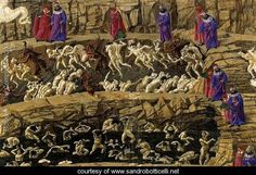 Sandro Botticelli~Inferno, Canto XVIII