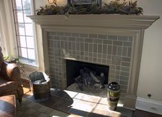 Handmade tile fireplace surround - Carlson's Flooring's Design Ideas, Pictures, Remodel, and Decor