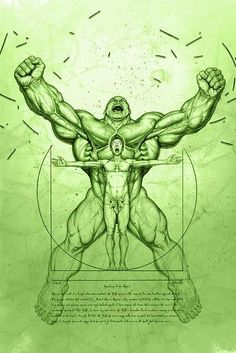 Hulk Vitruvio.