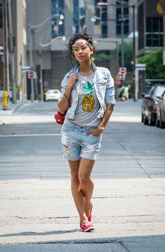 BlasianGurl, Victoria Kristine, Toronto, Fashion Blog, Fashion, Toronto Blogger, Fashion Blogger, H&M, Coconut, Denim, Abecrombie & Fitch, Jean Jacket, Summer, Casual, Street Style