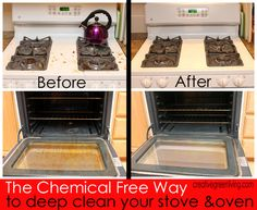 A non-toxic way to deep clean your oven or stove. This is amazing! I totally want one of these steam cleaners now.