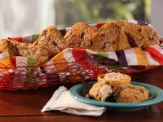 Get Pumpkin-Cranberry Scones with Whipped Maple Butter Recipe from Food Network