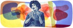Shoshana Damari's 90th Birthday [90 лет со дня рождения Шошаны Дамари] /This doodle was shown: 31.03.2013 /Countries, in which doodle was shown: Israel