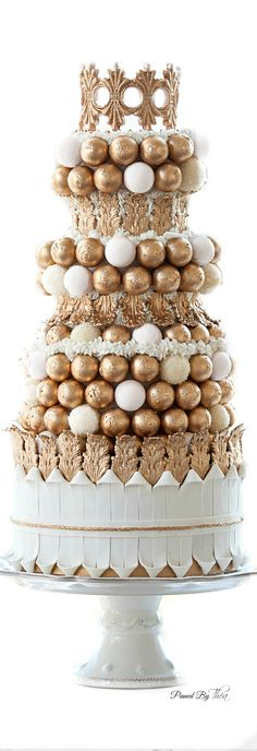 Wedding Dessert ● Golden Opulence we could make our own truffles and wrap in foil color of our choice