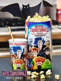 A Hotel Transylvania 2 movie night isn't complete without the snacks! Stop by Target Café before the movie begins to grab popcorn and a drink with exclusive HotelT2 designs.