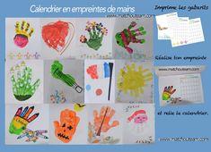 www.matchouteam.com Calendrier empreintes de mains
