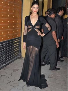 Deepika Padukone  A Prabal Gurung number and Christian Louboutin heels made for Deepika's look. There's hardly a celebrity on the Indian red carpet who carries a gown like she does.
